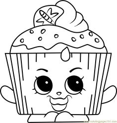 Cupcake Chic Shopkins Coloring Page