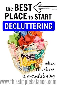 Getting the motivation to start decluttering is one thing. But where do you actually start decluttering? I decluttered my home three years ago, and with four little kids to boot! If I could go back, I would start decluttering THIS room FIRST. So that's what I'm encouraging you to do, along with step by step instructions the get the job DONE. Because when you're overwhelmed with clutter, you need a quick win to give you the inspiration and motivation to keep decluttering your entire house…