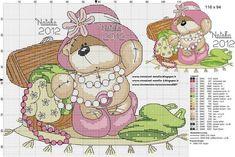 Cross Stitch For Kids, Cute Cross Stitch, Cross Stitch Animals, Funny Cross Stitch Patterns, Cross Stitch Charts, Cross Stitch Designs, Cross Stitching, Cross Stitch Embroidery, Embroidery Patterns