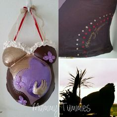 Personalized baby girl belly cast.  Capture the moment with Mummy Tummies belly casing.