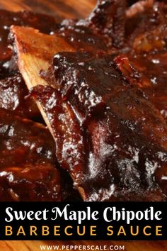 Talk about two rich flavors that are at the opposite ends of the taste spectrum. Yet together, they are magic. On one side you have rich, sweet maple syrup, on the other smoky, spicy chipotle pepper. Paired in a barbecue sauce, you have a taste bud explosion for your next cookout. #BBQ #BBQsauce #barbecue #cookout #barbecuesauce #sweetmaple #chipotle #spicy Barbecue Recipes, Barbecue Sauce, Spicy Recipes, Mexican Food Recipes, Spicy Steak, Spicy Aioli, Spicy Meatballs, Chipotle Pepper, Grilled Meat