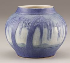 AN AMERICAN ART POTTERY VASE   Painted by Sadie Irvine for Newcomb College, New Orleans, Louisiana, Circa 1920