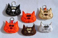 Meooowwwwwww!!! - Felt brooches and keychains
