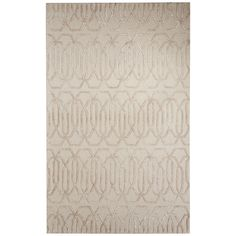 Jaipur Contemporary Chain And Tile Pattern Gray/Ivory Wool and Art Silk Area Rug