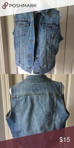 Denim vest 80% cotton 19% polyester 1% spandex Old Navy Jackets & Coats Vests