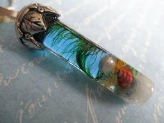 Ocean Reliquary Terrarium Glass Pendant-Real by giftforallseasons