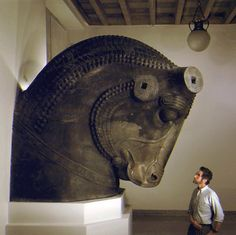Bull-Head From A 100-Column Palace In Persepolis  --  Oriental Institute, Chicago Museum
