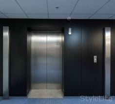 Velvet matte finish used for elevator foyer. This finish sets a relaxed tone in any corporate or home environment