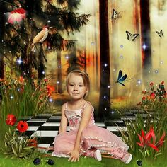 The Fairy of Flowers by Kitty Scrap Photo Anastasiya Landa