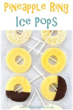 [orginial_title] – Amelia Frozen Pineapple Ice Pops Easiest ever healthy pineapple ice lollies recipe with 4 different serving ideas – these simple fruit ice pops make a great kids snack idea for summer! Cheap Clean Eating, Clean Eating Snacks, Ice Lolly Recipes, Popsicle Recipes, Fruit Ice Pops, Gourmet Recipes, Snack Recipes, Dessert Recipes, Fruit Recipes