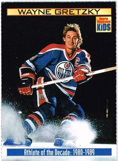 Wayne Gretsky NHL Sports Illustrated for Kids :Athlete of the Decade 1990