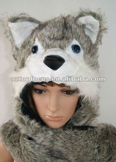 crochet wolf hat - Google Search Crochet Wolf, Crochet Hats, Wolf Hat, Google Search, Board, Animals, Projects, Knitting Hats, Animales