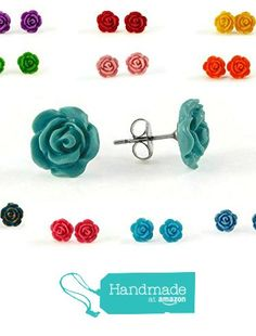 Cute gift for Mother's Day! They'd be great for Flower Girls or Bridesmaids too! 1 Pair of Tiny Rose Stud Earrings in SCENTED or Unscented and Your Choice of Color Options from Gabrielle & Co http://www.amazon.com/dp/B01EEL692I/ref=hnd_sw_r_pi_dp_DArgxb1D80KAT #handmadeatamazon