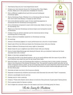25 Christmas Traditions for your family