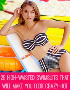 Ensure your high-waisted swim look is more pinup-suit than beach-diaper.