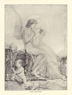 Cupid and Psyche by Paul Baudry, 1892.