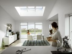 Realise the VELUX potential in your extension. What is the VELUX potential? It's when that extra space transforms into an extra special space that you love spending time in. VELUX roof windows can bring in more daylight, more fresh air and more wow factor to every project. Explore the VELUX potential in your home at velux.co.uk