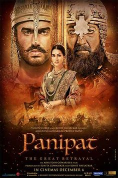 By News Helpline – November 2019 The makers of Panipat dropped the new poster featuring Sanjay Dutt, Kriti Sanon and Arjun Kapoor. The trailer for the film will be out today! Panipat is a. - Social News XYZ Movies 2019, New Movies, Movies Online, Upcoming Movies, Movies Box, Z Movie, Movie Plot, Hindi Movies, Comedy Movies