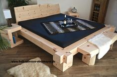 Wood Bed Design, Bed Frame Design, Bedroom Bed Design, Home Room Design, Home Decor Bedroom, Diy Furniture Plans, Bed Furniture, Rustic Furniture, Furniture Design