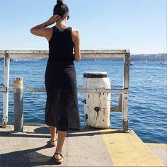 September 2014: Bassike tank and skirt. K. Jacques sandals.