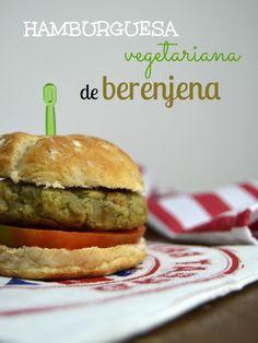 Hamburguesas vegetarianas de berenjena