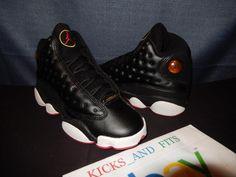 NEW VTG OG Nike Air Jordan XIII 13 1998 Not Retro Black Red Playoff 5 DS 134071…