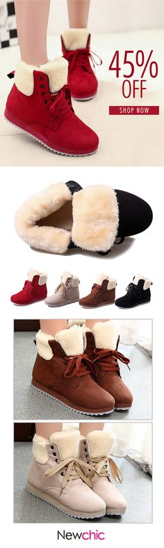 Pure Colour Fur Lining Warm Soft Boots For Women Vans Boots, Shoe Boots, Big Girl Clothes, Fashion Shoes, Fashion Outfits, So Little Time, Winter Boots, Pretty Outfits, Me Too Shoes