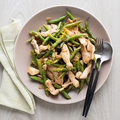 Meyer Lemon Chicken Stir-Fry with Green Beans | Food & Wine