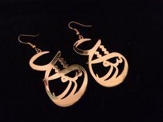 Persian Calligraphy Earrings - Eshgh - Love - $57 - ALANGOO