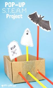 HALLOWEEN POP-UP STEAM PROJECT - Kids of all ages will love this spooky pop-up STEAM challenge and you can easily adapt it to any theme throughout the year too.