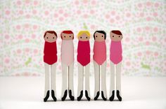 clothespin ballerinas!! Would be cute with little tulle tutus!
