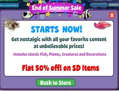 http://zynga.tm/jD6 Hi Fishville Lovers! Have you checked out the 'End of Summer' Sale yet??? Visit the Fishville store each day to find new items and get 50% on all the SD items!!    Hurry, you time is running out! Remember to 'share' this post with your friends as well. #fishing #flyfishing #fishinglife #fishingtrip #fishingboat #troutfishing #sportfishing #fishingislife #fishingpicoftheday #fishingdaily #riverfishing #freshwaterfishing #offshorefishing #deepseafishing #fishingaddict…