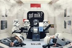 Got Milk? -2- by storm TK431 | LEGO Star Wars Stormtrooper , Darth Vader  Rebel Trooper Minifigs