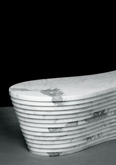 Paolo Ulian and Moreno Ratti | Land bench (partial view) | Carrara marble