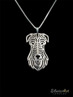 Scottish Deerhound sterling silver pendant by SiberianArtJewelry, $99.00