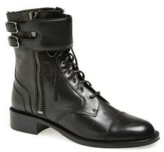 Via Spiga 'Bindu' Military Lace-Up Bootie (Women) on shopstyle.co.uk