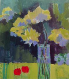 """Annie O'Brien Gonzales-Contemporary Abstract Still Life Art Painting """"May Day"""" by Santa Fe Artist Annie O'Brien Gonzales"""