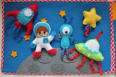 """Купить Развивающее панно """"Космос"""" - комбинированный, развивающий коврик, развивающая игрушка, развивающие игры, развивашка"""