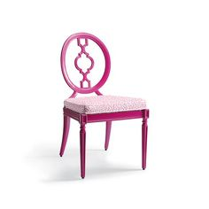 Mega-splurge alert! Avery Dining Side Chairs with Ionian Key Cushions in Fuchsia Finish - $1595 for 2 - Frontgate