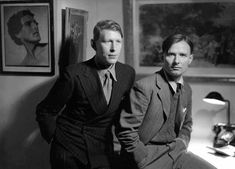 W. H. Auden and Christopher Isherwood, 1937, photo by Howard Coster