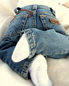 my son will definitely have a pair of baby wranglers & boots! :)