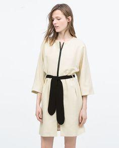 Image 1 of KIMONO SLEEVE BELTED COAT from Zara
