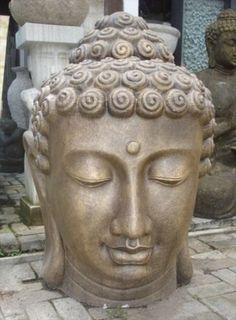 Tête de Bouddha 100cm 395e statue-et-compagnie.com/