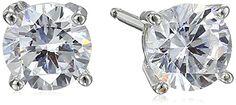 Platinum Plated Sterling Silver Round Cut 5mm Cubic Z... - #Bracelets  (source: jewelrysight.com)