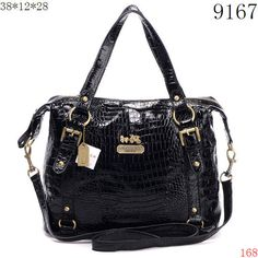 Black Leather Coach Purse...I love! Would also be amazing in red or royal blue!