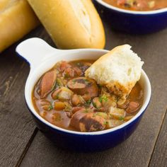 White Bean Stew with Turkey Sausage