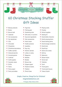 Christmas Stocking Stuffer Ideas - Imagine. Make. Believe
