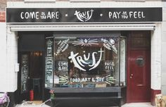 Food, art & joy. Come as you are. Pay as you feel. Albert Cuypstraat 210, Amsterdam