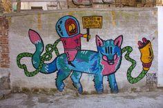 #streetart #Palermo Palermo Italy, Italy Street, Graffiti, Disney Characters, Fictional Characters, Moose Art, Animals, Art, Animales