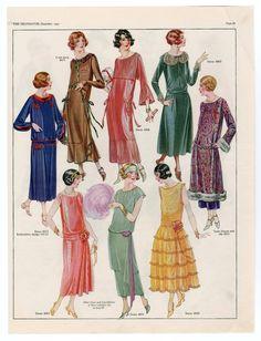 1921-1940, Plate 036. Metropolitan Museum of Art (New York, N.Y.). Costume Institute. Fashion plates, 1700-1955 Costume Institute Fashion Plates. #1920sFashion